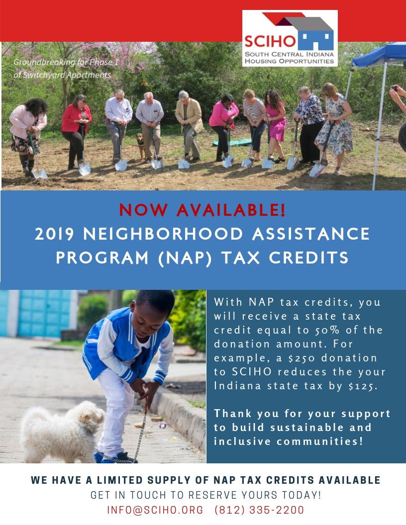 2019 NAP Tax Credits graphic