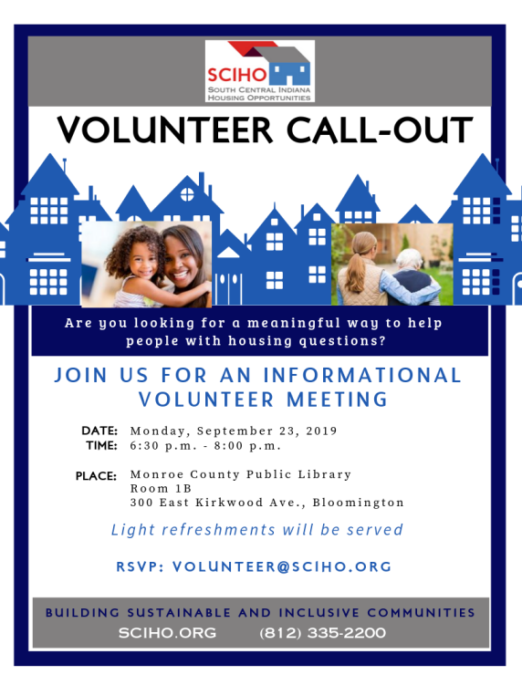 Volunteer Call-Out 9-23-2019