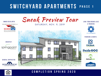 Sneak Preview - Switchyard Apartments